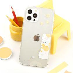 나인어클락 고양이 냥 밍글 클리어 하드 케이스 갤럭시 아이폰