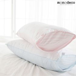 신생아 아기 무화학 순면 베개커버+베개솜 2color 30X50