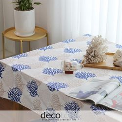 푸른산호 식탁보(네이비)(6인용)