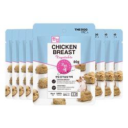 더독 오븐애 구운 한입 닭가슴살 야채 80g x 8개(1box)