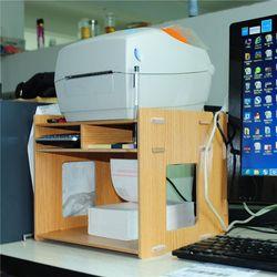 프린터 라벨기 책상 받침 대 선반 정리 함 오거나이저