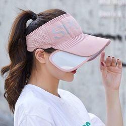 스포츠 날개썬캡 (핑크) 골프모자 등산 낚시모자 선캡