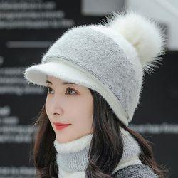 겨울 여자 골프 모자 세트