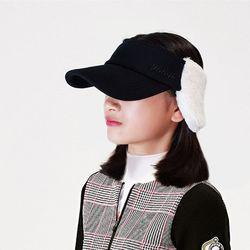 볼빅 겨울 골프모자 여성 블랙 귀달이 캡 방한 스포츠