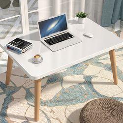 흔들리지 않는 1인용 좌식책상 사각 중형 앉은뱅이 침대 책상