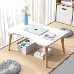 흔들리지 않는 1인용 좌식책상 둥근 중형 앉은뱅이 침대 책상
