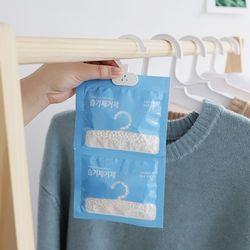 장마철 옷장서랍장신발 습기제거 옷걸이형 국산제습제