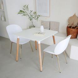 모아이 아벨로 카페 2인 화이트 식탁 테이블
