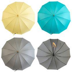 P9709 우드손잡이 파스텔 장우산(3color)