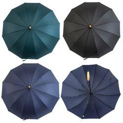 P9708 우드손잡이 딥컬러 장우산(3color)