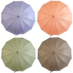 P9707 우드손잡이 뉴트럴 장우산(4color)
