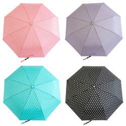 P9704 휴대용 도트 3단 우산(4color)