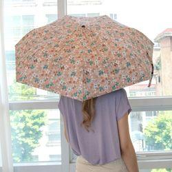 P9705 플라워 코팅 우산겸용 3단양산(4color)