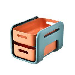 서랍형주방 욕실 바퀴형  이동식 선반(숏 오렌지)