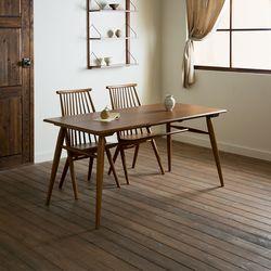 장미맨숀 메이 원목 1600 테이블 식탁세트02 (의자2개)