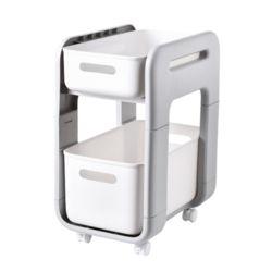 주방/거실/사무실/다용도서랍 이동식 선반(롱 바퀴형)