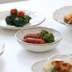 빈티지 올리브 그릇 디너 접시 파스타 볼 한식 그릇
