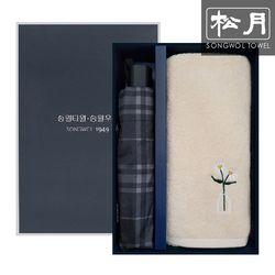 송월 3단체크 우산   블룸130g 수건 선물세트