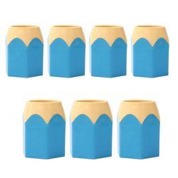 ABM 연필모양 연필꽂이 블루 7개