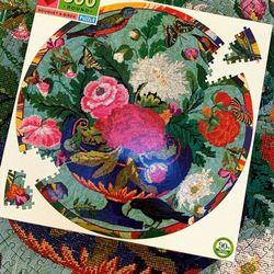 새와 꽃다발 500피스 라운드 퍼즐