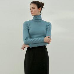 BASIC TURTLENECK SLIM TOP_BLUE GRA…(ITEMEULQHON)