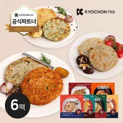 [교촌] 닭가슴살 원형 스테이크 100g 6종 6팩