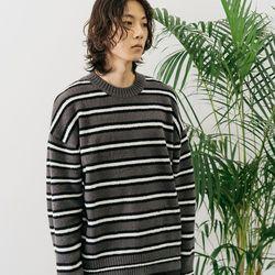 스트라이프 니트_차콜 / 아…(NEWUFGHRA6)