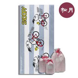 송월 대형 비치타올 스누피 바이크76 (휴대용 방수팩 포함)