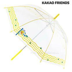 카카오 마린스트라이프 60 투명우산-무지(옐로우)