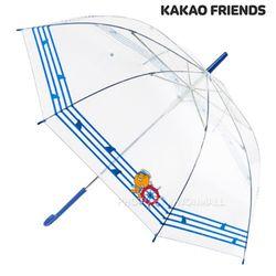 카카오 마린스트라이프 60 투명우산-라이언(네이비)