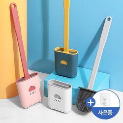 메이스 화장실 실리콘 욕실 변기청소 변기솔 벽걸이 일회용