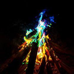 상상공간 캠핑 불꽃놀이 레인보우 매직파이어 불멍가루
