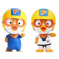 뽀로로 리얼 피규어 달리는뽀로로 태권 (2종세트) 장난감