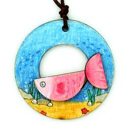 여름목걸이만들기-물고기