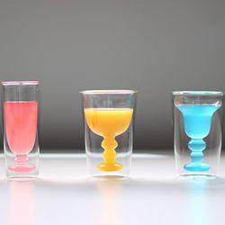 BITOSSI 비토시홈 이중 글라스 컵와인 홈카페 유리컵
