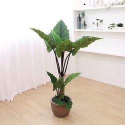 고급 인조나무 대형 화분 알로카시아 오도라 120cm