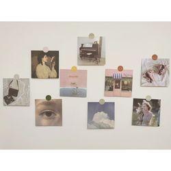 빈티지 핑크 미니 엽서 9종 세트 감성 예쁜 사진 카드 포스터