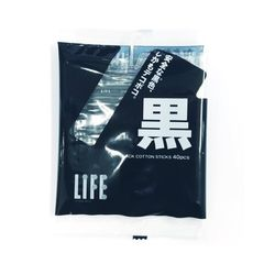 Life 다용도 블랙 고급 순면 면봉 40개 5087