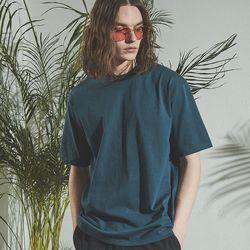 4112AB 스탠다드 핏 크루넥 반팔 티셔츠 애쉬블루