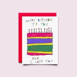 [drawingpaper] 생일카드 - 케이크