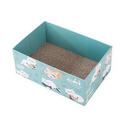 캣 박스하우스 블루 스크래쳐 고양이 용품