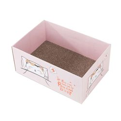 캣 박스하우스 핑크 스크래쳐 고양이 용품