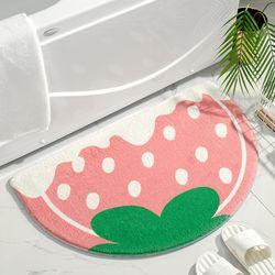 딸기 아이스크림 매트 미니러그(40x60cm)