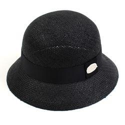 SV Thunder Bau Black Cloche Hat 여름페도라