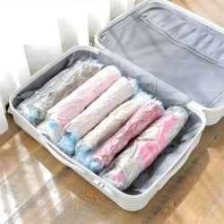 청소기 필요없는 지퍼팩 여행용 의류 옷 압축팩