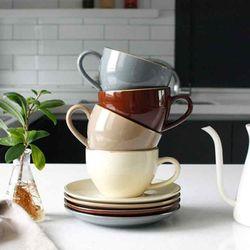 에크렌 골드 림(rim) 노블 커피잔1인세트 (4colors)