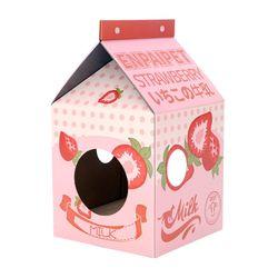 딸기 밀크팩 캣하우스 고양이용품 스크래처
