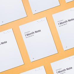 싱크스텝 1개월 노트 A4 thinkstep 1 Month Note A4