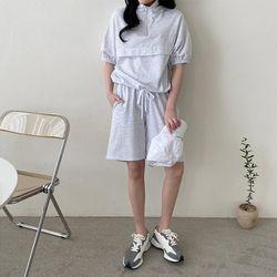 [Set] Cotton Anorak   Sweatshorts