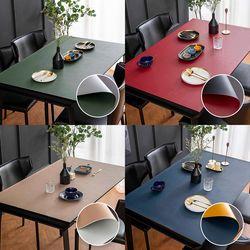 가죽 식탁매트 방수 식탁보 테이블보 (120x60cm)